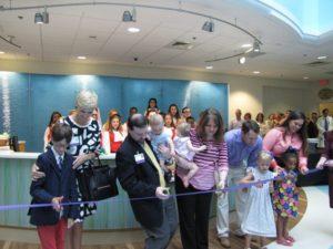 6-9-2015 Unveiling of Children's Hospital Lobby - ribbon